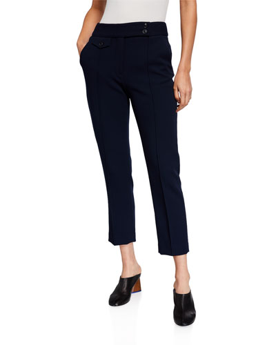 Renzo Straight-Leg Ankle Pants