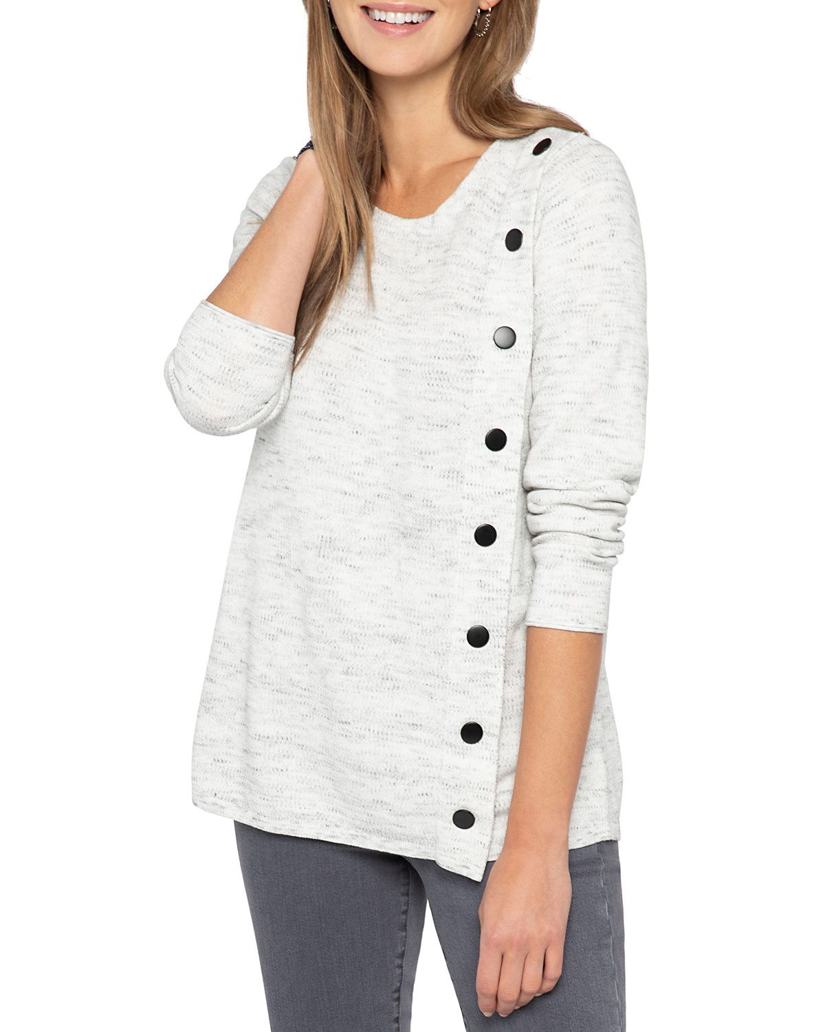 Nic + Zoe PLUS SIZE SIGN ME UP SWEATER