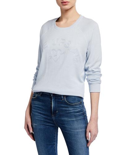 Bronte Embroidered Crewneck Sweatshirt