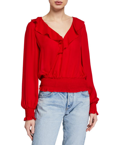 Quincy Smocked Ruffle Blouse