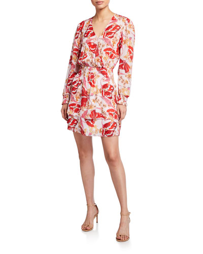 Athens Printed Ruffle Dress