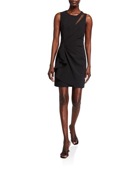 Parker Black Adair Gathered Crepe Combo Dress