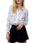 Rails Charli Cheetah-Printed Long-Sleeve Button-Down Shirt