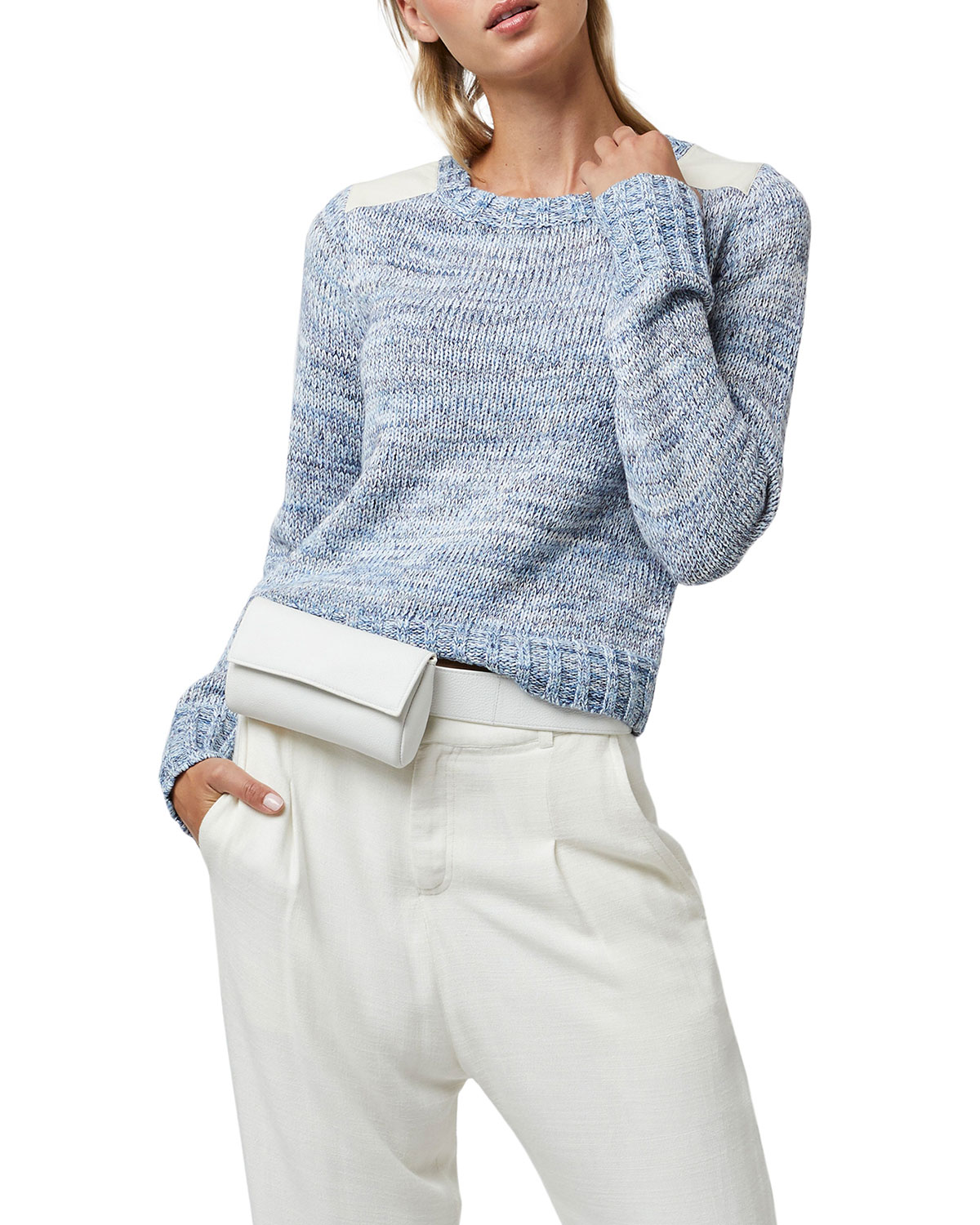 Brayden Sweater with Leather Detail