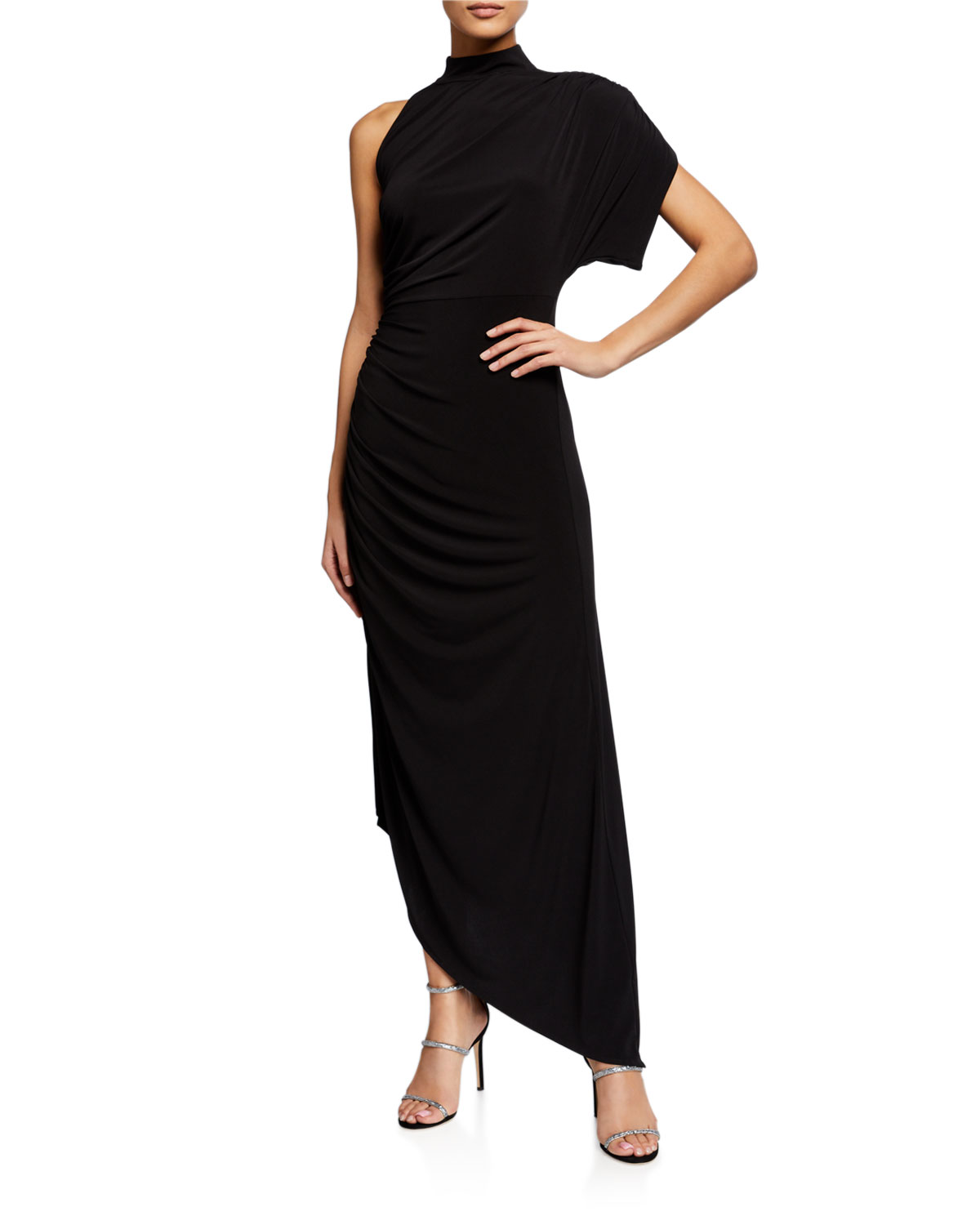 Retroféte MONICA ONE-SHOULDER ASYMMETRIC COCKTAIL DRESS
