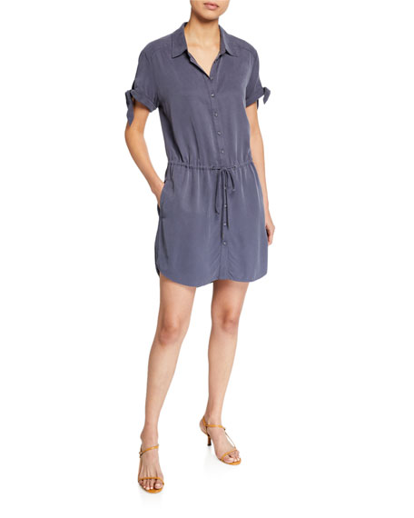 PAIGE Avery Short-Sleeve Shirtdress