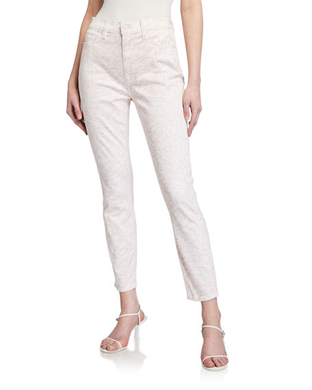 7 for all mankind High-Rise Printed Ankle Jeans