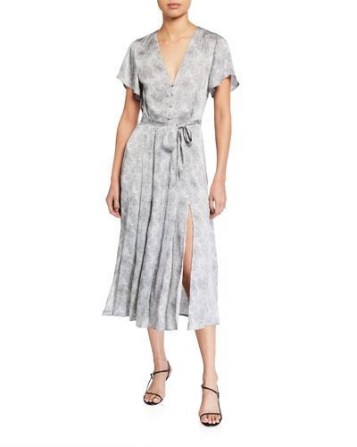 Alayna Printed Button-Front Dress