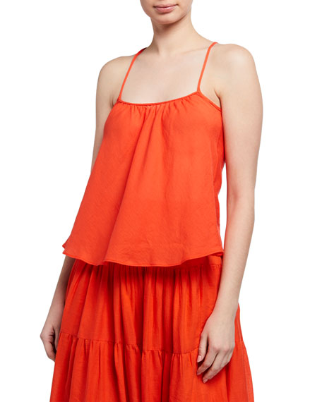Loup Charmant Airy Organic Cotton Scoop-Neck Tank