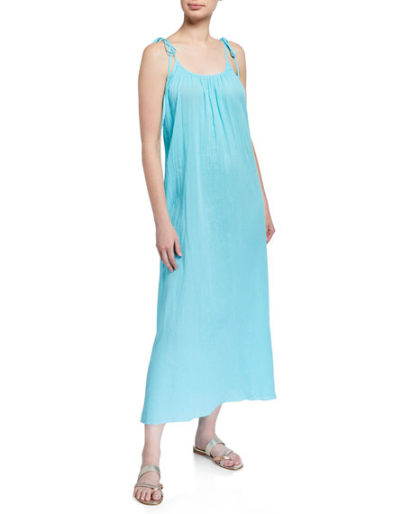 Loup Charmant Airy Organic Cotton Maxi Slip Dress