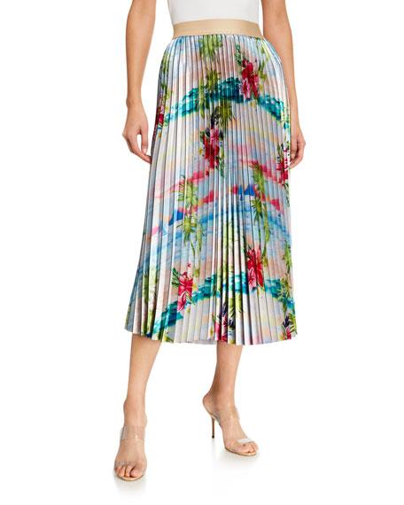 Le Superbe Pretty Pleats Floral-Print Skirt