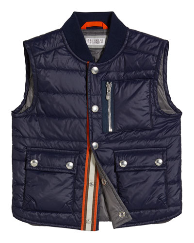 Boy's Quilted Nylon Vest, Size 12-14