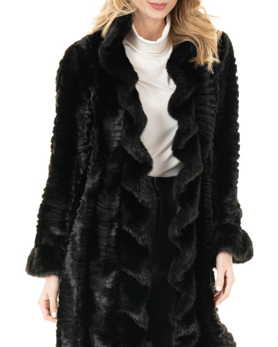 Broadtail Faux-Fur Stroller Coat