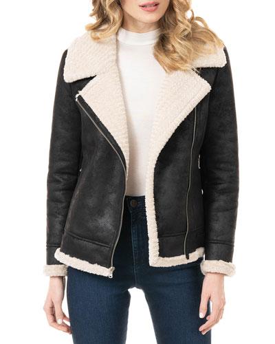 Urbanista Faux Suede Moto Jacket