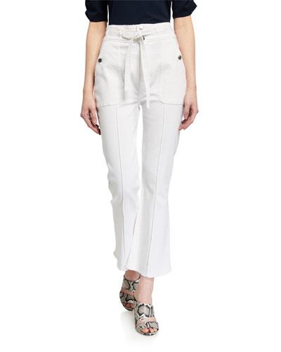Le Crop Flare Triple-Waist Jeans
