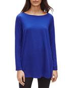 Eileen Fisher Bateau-Neck Long-Sleeve Jersey Tunic
