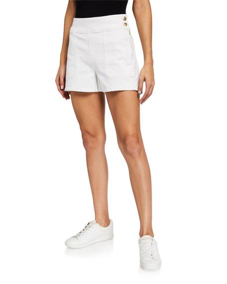 FRAME Le Francoise Mid-Rise Shorts