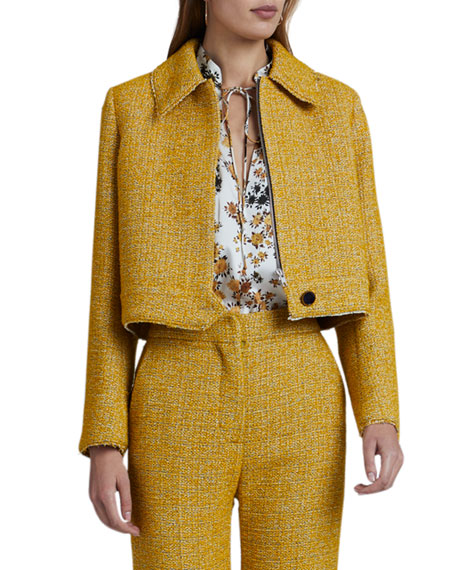 Victoria Victoria Beckham Cropped Boucle Jacket