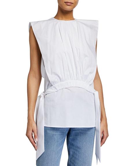 Victoria Victoria Beckham Gathered Cotton Bib Top
