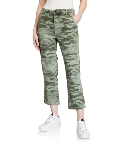 Easy Trouser Relaxed Crop Straight Pants