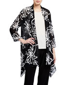Caroline Rose Wild Flower Georgette Swing Cardigan
