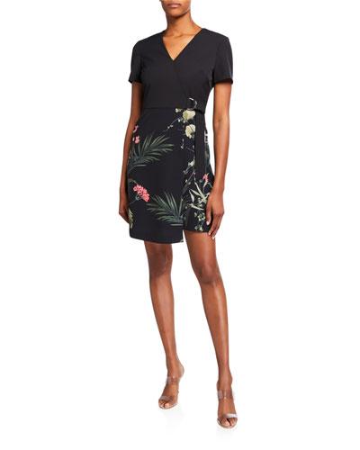 Mizalia Highland Wrap Front Floral Dress