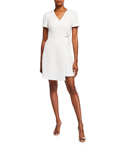 Marimel Short-Sleeve Jersey Wrap Dress