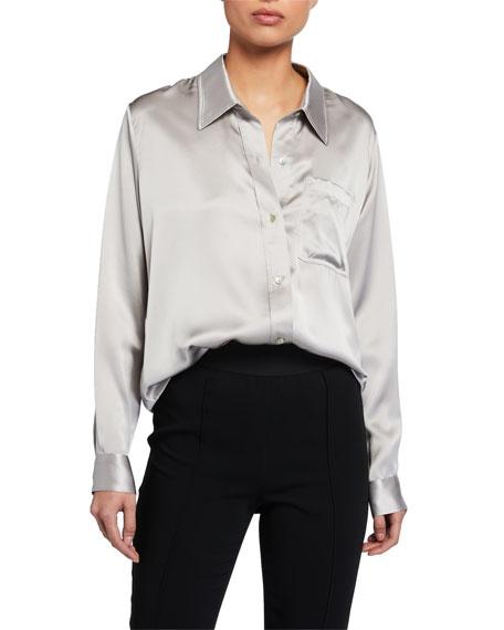 Sablyn Quinn Long Silk PJ Shirt