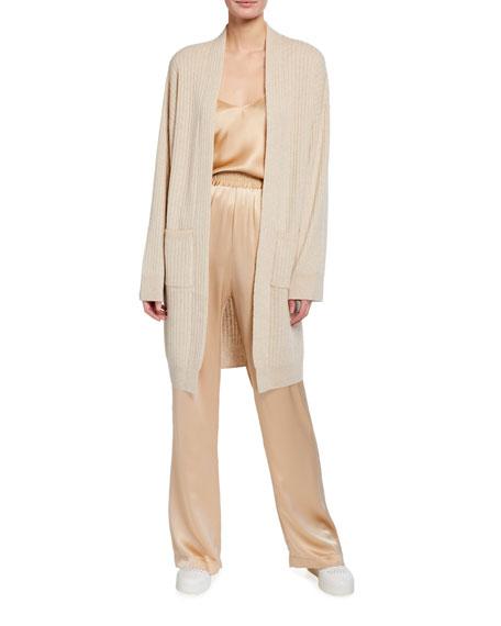 Sablyn Two-Pocket Long Cashmere Cardigan