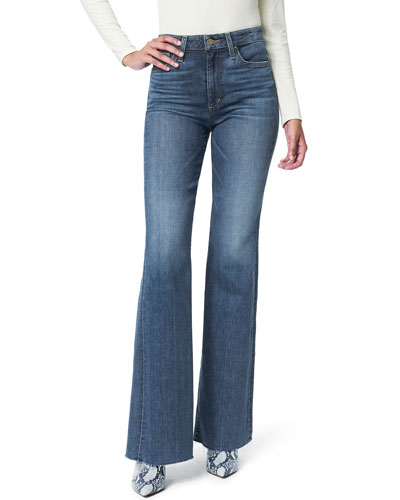 The Molly High Rise Flare Jeans with Cut Hem