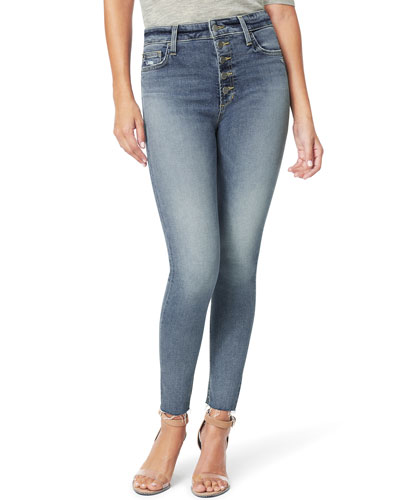 The Charlie Ankle Jeans with Cut Hem & Exposed Fly