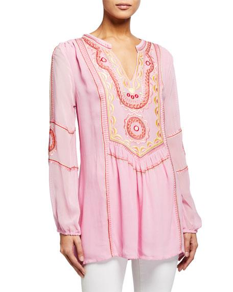 Tolani Lauren Embroidered Tunic