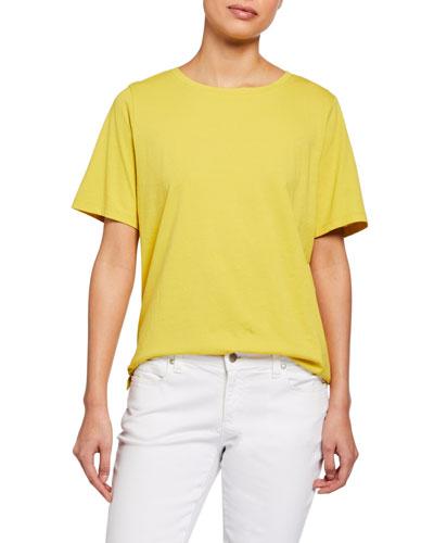 Organic Cotton Jersey Short-Sleeve Crewneck Tee