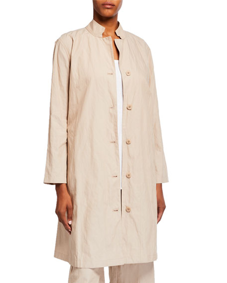 Eileen Fisher Petite Organic Cotton Steel Swing Jacket
