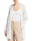 Eileen Fisher Lyocell Metal Long Cardigan