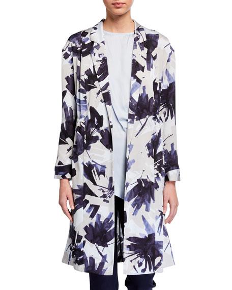 NIC+ZOE Petite Inky Flowers Long Jacket