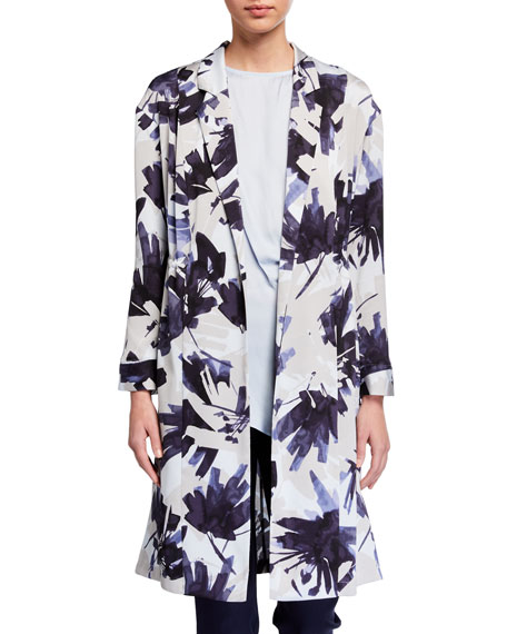 NIC+ZOE Inky Flowers Long Jacket