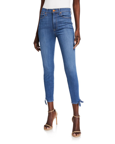 Good High-Rise Ankle-Tie Jeans