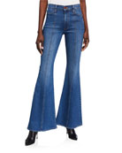 ALICE + OLIVIA JEANS Beautiful Seamed High-Rise Bell