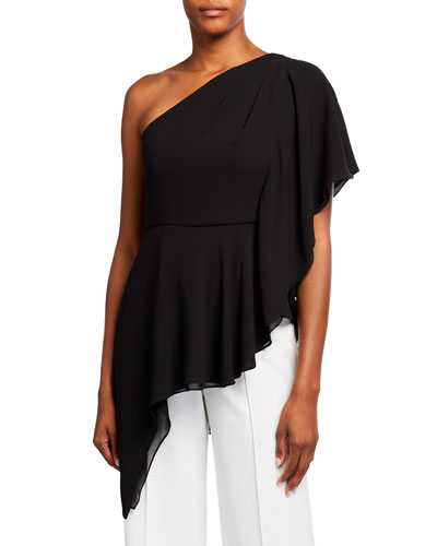 One-Shoulder Drape Top