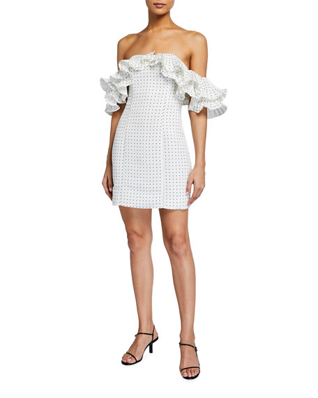 Mestiza New York Lulu Off-the-Shoulder Mini Ruffle Dress