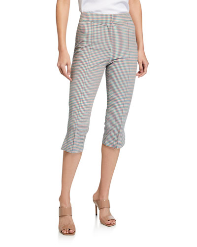Dhara Cropped Check Pants
