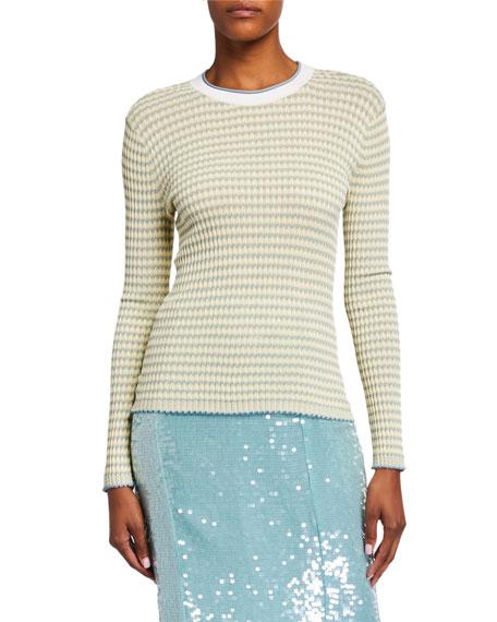 Veronica Beard Siena Long-Sleeve Crewneck Sweater