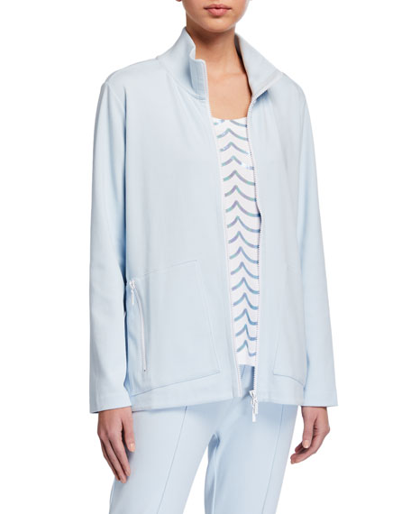 Joan Vass Relaxed Zip Pocket Jacket