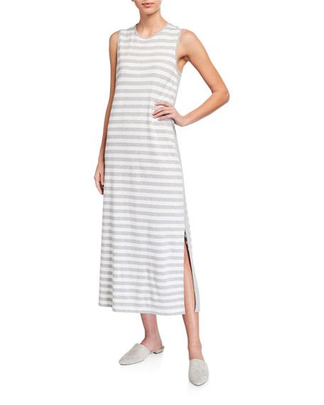 Joan Vass Striped Maxi Dress