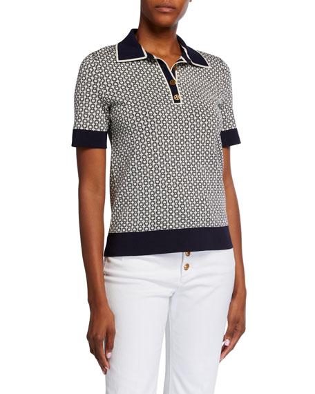 Tory Burch Gemini Link Short-Sleeve Polo Shirt
