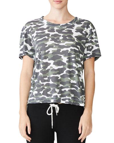 Animal Camo Print Short-Sleeve T-Shirt