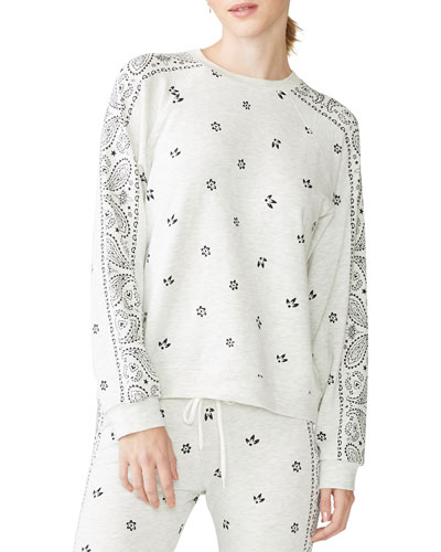 Allover Bandana Printed Long-Sleeve T-Shirt