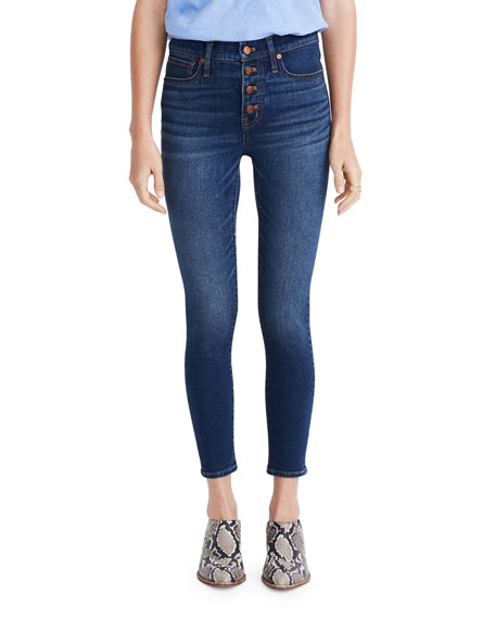 Madewell 9 High-Rise Skinny Crop Button-Fly Jeans