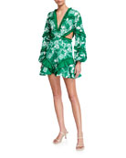 Alexis Imetta Embroidered Ruffle Mini Dress
